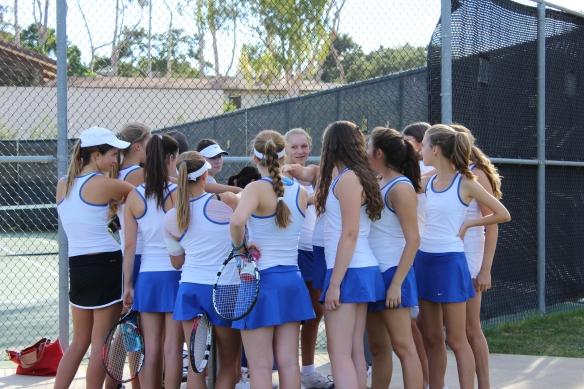Cate Girls' Tennis beats Orcutt in CIF Playoffs 2013