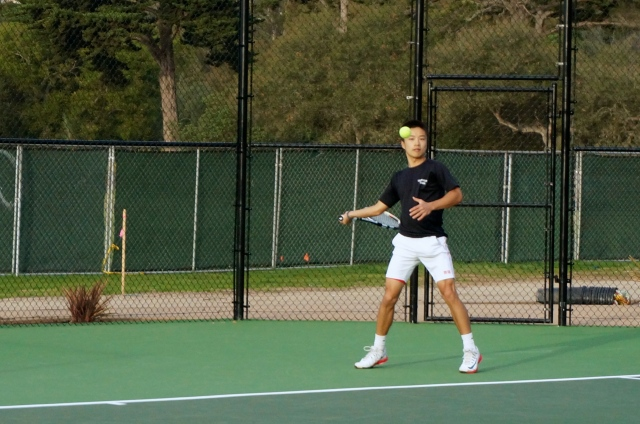 Ben Furukawa Crushes a Forehand Winner Against Besant Hill