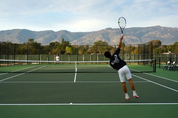 Ben Furukawa Serves at New Laguna Blanca Courts