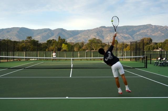 Ben Furukawa Serves at New Laguna Blanca Courts