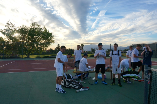 Owls Tennis Laguna Blanca at Redlands Match