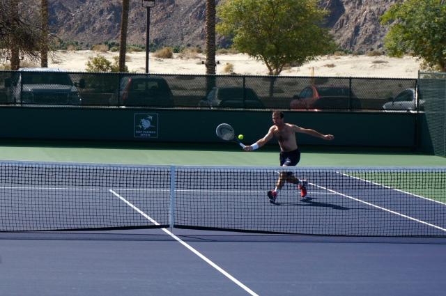 Radek Stepanek on the practice courts