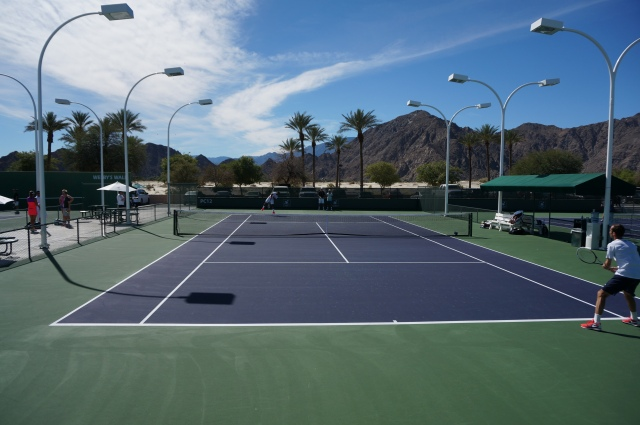 Beautiful day for tennis in Indian Wells