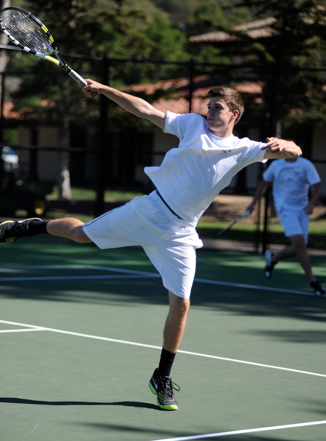 Atty Roddick reaches for a tough volley Laguna Blanca boys Tennis 2014