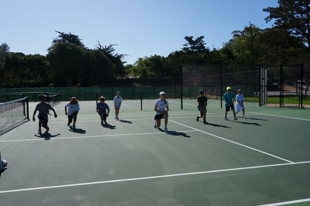 Laguna Blanca Tennis Camp 2014 Group Warmup