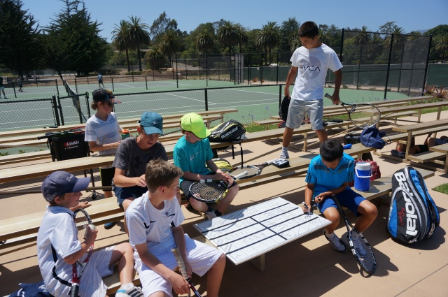 Ethan Ha art at Laguna Blanca Tennis Camp 2014
