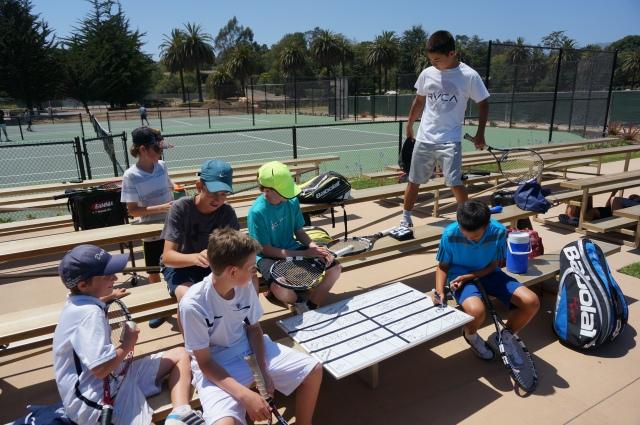 Ethan Ha art at Laguna Blanca Tennis Camp 2014