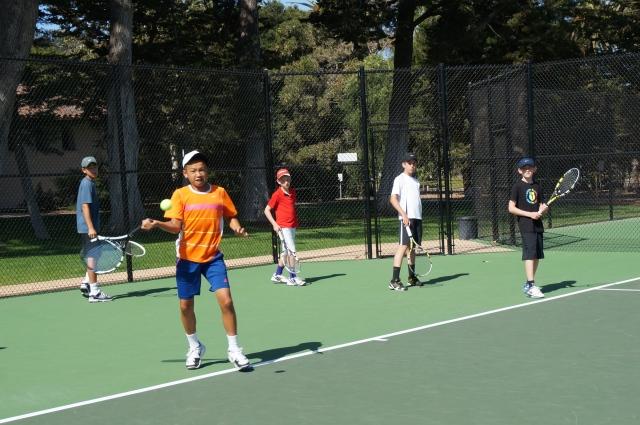 Ethan Ha rips a forehand at Laguna Blanca Tennis Camp 2014