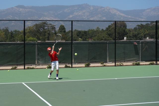 Alexander Fell at Laguna Blanca Tennis Camp 2014