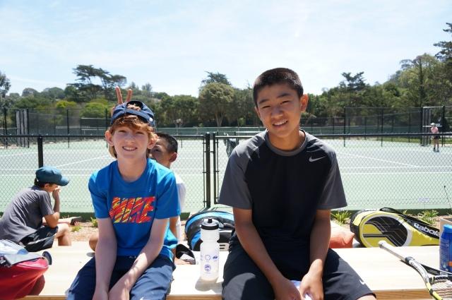 Michael Chung and Daniel Newton at Laguna Blanca Tennis Camp 2014