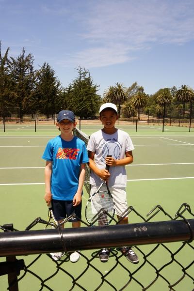 Daniel Newton and Ethan Ha A Bracket Finals Laguna Blanca Tennis Camp 2014