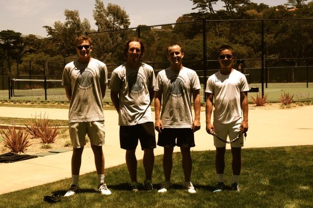 Laguna Blanca Tennis Camp 2014 Staff Tristan Prinz Zack Hasenyager Trevor Thorpe Ben Furukawa