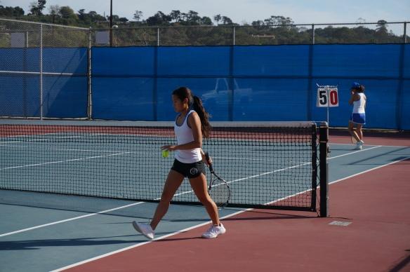 Julia Gan dominating the tennis court again