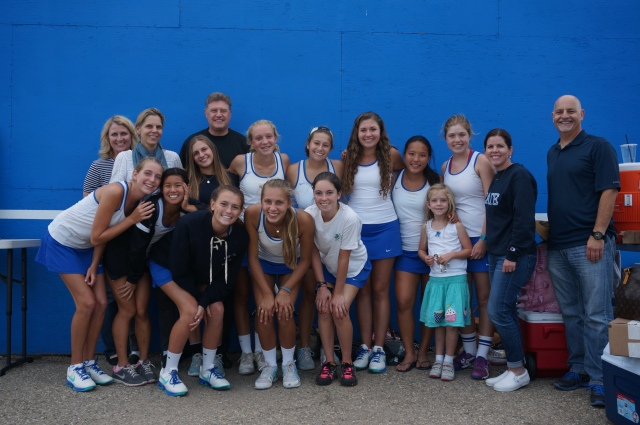 Cate Girls Tennis 2014 at San Marcos Win