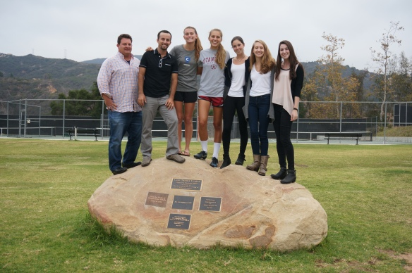Cate 2014 Girls Tennis Seniors at The Rock