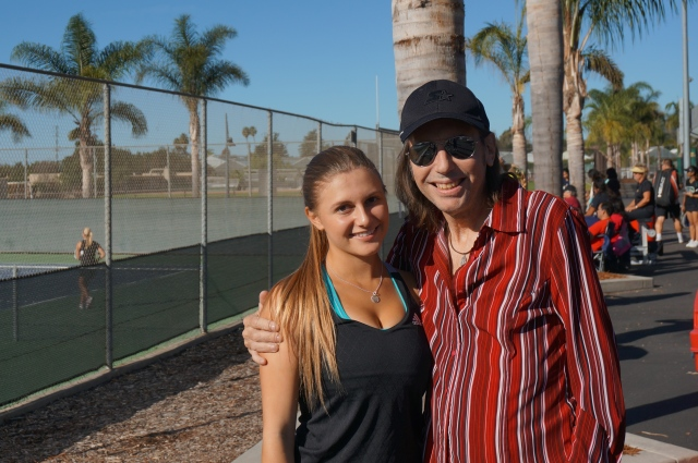 McKenna Madden and dad at CIF Individuals 2014