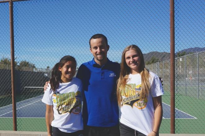 Thorpe Tennis Coach Thorpe McKenna Madden Julia Gan CIF Individuals 2014 Cate Tennis