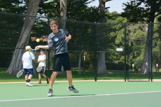 Phillip Hicks Swats a Forehand