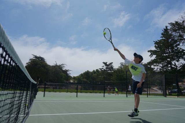 Daniel Newton Tennis Overhand Smash
