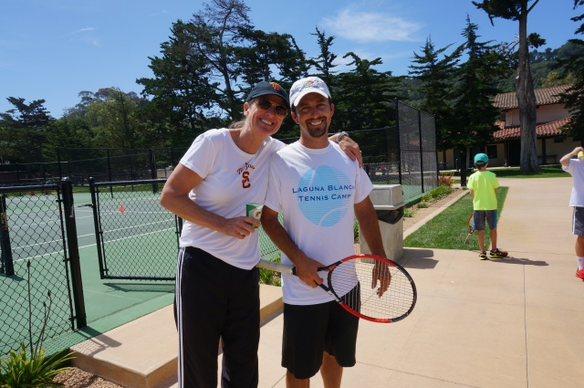 Barbara Hallquist DeGroot Celebrity Coach Laguna Blanca Summer Tennis Camp