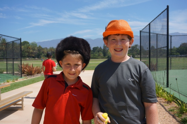 Harrison Fell and Ben Newton Hat Competition at Camp