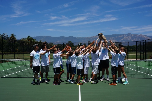 Laguna Blanca Summer Tennis Camp 2015 Group Photo