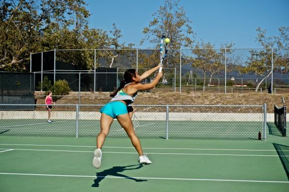 Julia Gan Backhand Stretch Volley