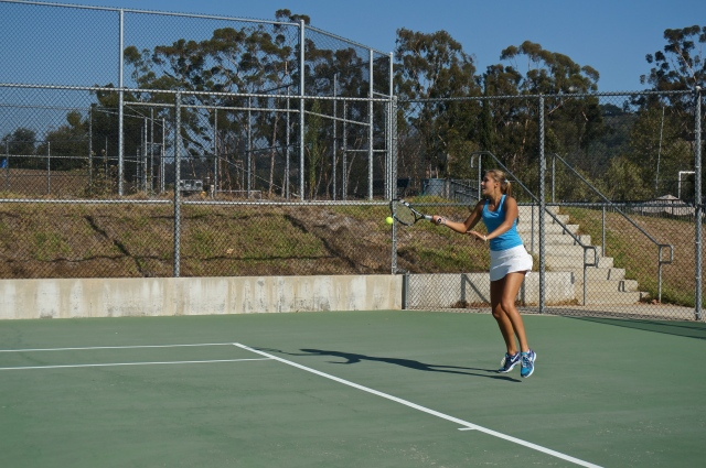 Victoria Herman crushes forehand in visit