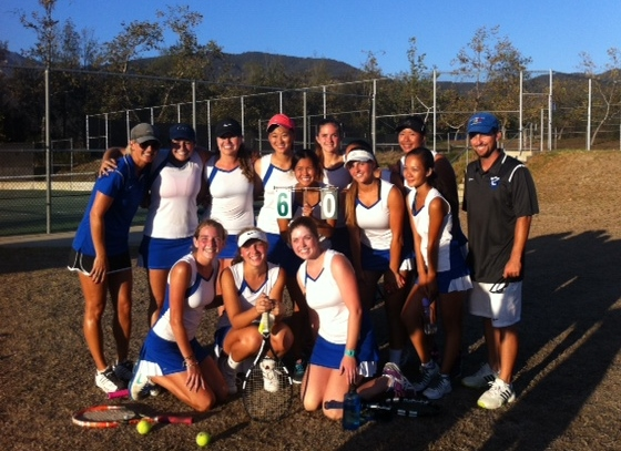 Cate Girls' Tennis Beats Defending Champs, La Reina 10-8
