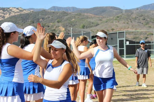 Cate Girls' Tennis have Team Spirit