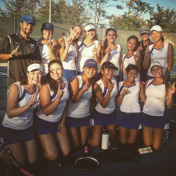 Cate Girls Tennis is Number One Tri Valley League Champions 2015