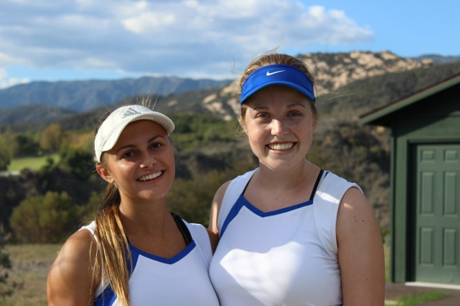 McKenna Madden and Summer Christensen Doubles Team Cate School 2015