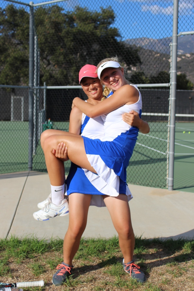 Eva Herman and Janice Ng Doubles Team Cate School 2015