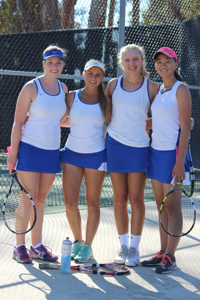 All-League Doubles 1st-Team Cate Girls 2015 Tri-Valley Summer Christensen McKenna Madden Eva Herman Janice Ng