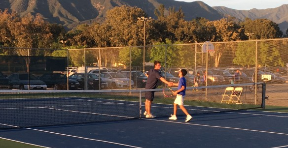 Phillip Hicks wins the last match on-court for Laguna Blanca