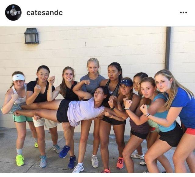 cate exos workout girls tennis